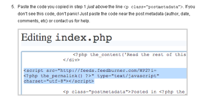 adding feedflare code
